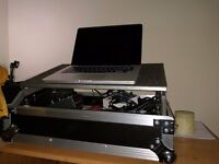 Flight case and stand for mixer/laptop, etc.