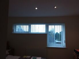 Verticl Blinds (Hillary). White. Good condition.