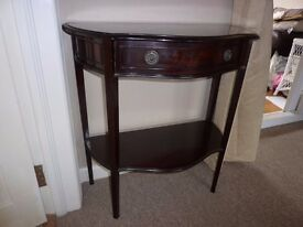 Half Moon Telephone/Hall Solid Wooden Table