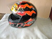 Rossi replica crash helmet in excellent condition size L