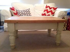 Shabby Chic Wooden Coffee Table - 50 OBO