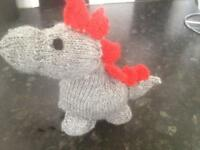 Knitted dino