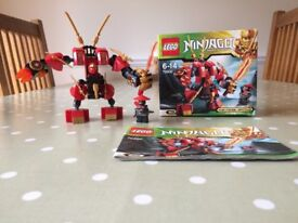 LEGO Ninjago Masters of Spinjitzu - Kai's Fire Mech Fully complete with box and instructions.