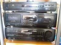 Marantz hifi: stereo receiver (SR-45), CD player (CD-43), double cassette deck (SD545)