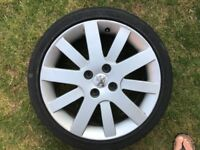 PEUGEOT 207 ALLOY WHEEL INC TYRE WITH GOOD TREAD