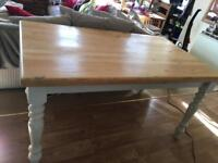 Farm house solid wood table