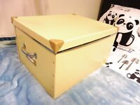 Ikea FJALLA Large Storage Box/Trunk with Handles in Yellow. New and unused