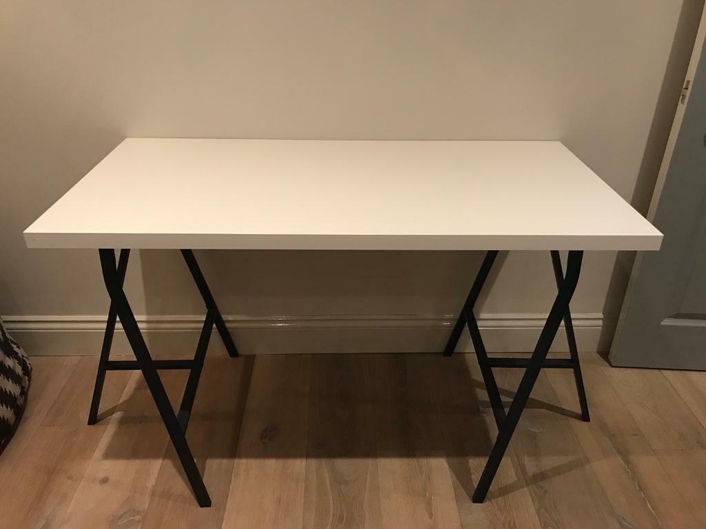 Ikea linnmon white desk in shepherds bush london gumtree
