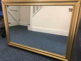 Large mirror with gold frame 107x76cm