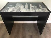 New York glass desk