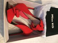 Miss KG Red Heeled Shoes Size 6