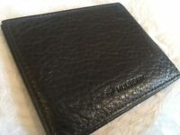Genuine Mulberry brown leather card holder wallet, new