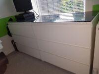 Ikea malm white drawer 2 x 3