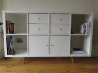 Storage combination with doors and drawers