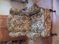wing back chair fully sprung overall good arms a little scruffy sound condition