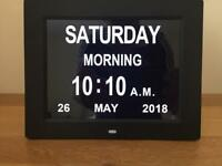 Digital Day Clock for Memory Loss Patients