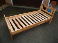 Ikea Kritter junior / toddler bed, pine, with mattress