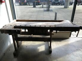 Vintage jointer workbench