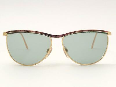 NEW VINTAGE GUCCI GOLD & MARBLED ACCENTS FRAME 1990'S ITALY SUNGLASSES