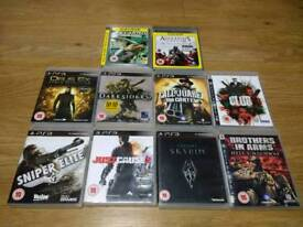 PS3 10 TOP TITLES GAMES BUNDLE Rated PG15 UK Delivery