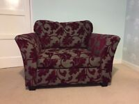 Large purple and grey armchair
