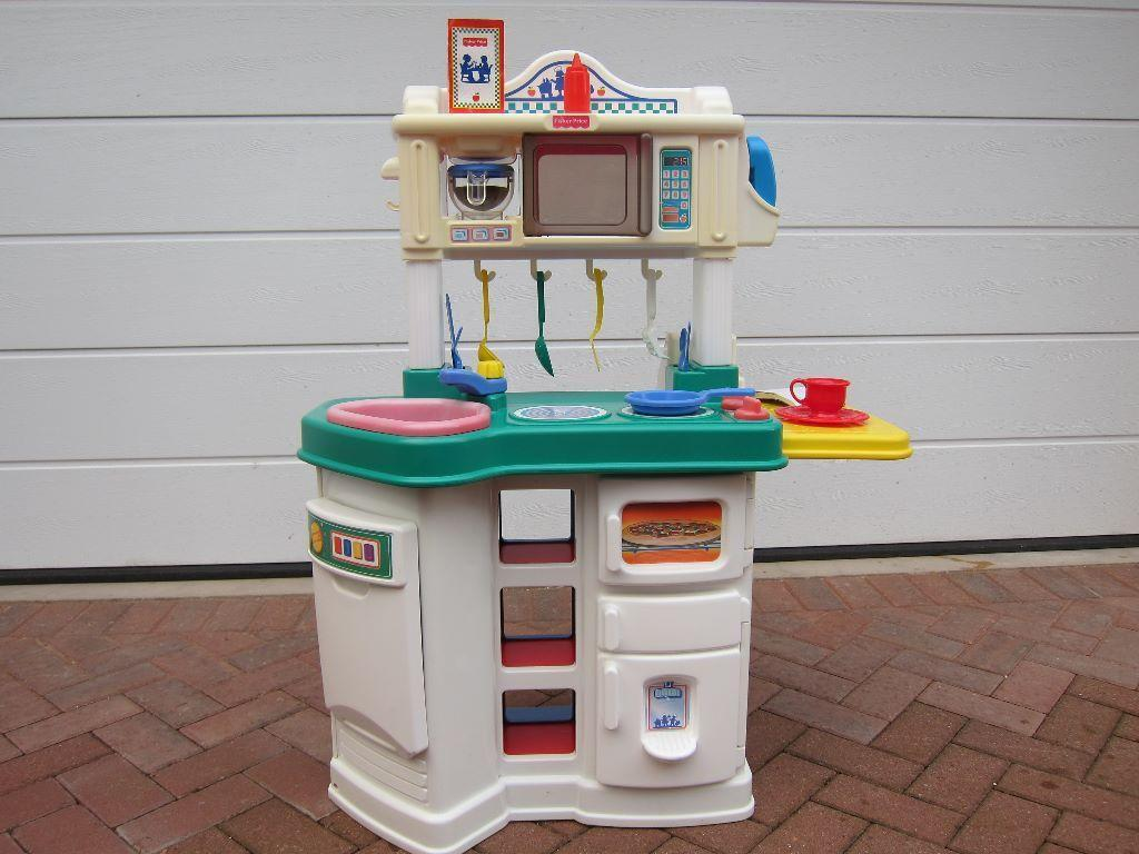Fisher Price Play Kitchen Shop Complete With Accessories Utensils Cutlery Etc In Broughty