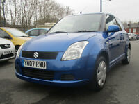 2007suzuki swift 3 door hatchback 1.3 petrol looks and drives excellent mot till 15 th november2017