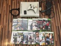 Xbox 360 console, leads, controller & 14 games (15+) bundle - Ex. cond REDUCED! £40