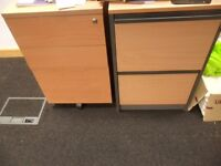 Wooden Office Filing Cabinet with 2 Drawers - £5 as no Keys