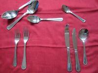 44 piece beaded design cutlery set