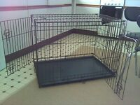 large dog cage 36 inches long all folds down flat in very good condition dagenham essex