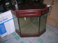 corner fish tank with hood