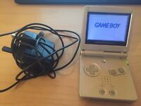 GAMEBOY ADVANCE SP - SILVER - FULL WORKING CONDITION WITH CHARGER - £25