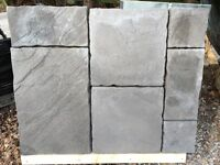 Slate gray paving slabs all new