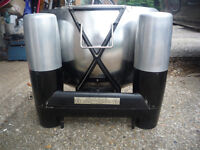 rare aladdin silver queen paraffin heater. greenhouse heater