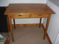 Two drawer console/writing table