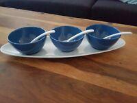 lovely 3 dips bowl set