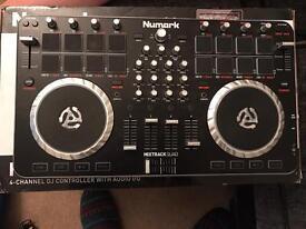 NUMARK MIXTRACK QUAD CONTROLLER DJ audio mixer controller sound card. Like new
