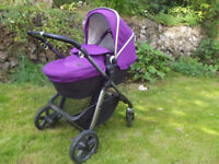 Silver Cross Pioneer Pram, Pushchair, Carrycot and Infant Car Seat. Excellent Condition.