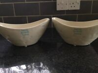 Pair of ceramic bowls. M&S brand new with tags