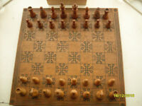 Chess set celtic knot board staunton pieces