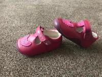 Clark's pink girls shoes