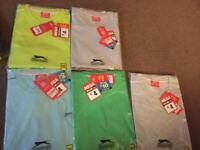 5 t shirts 5 polos new in packaging xxxl