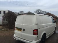 Volkswagen transporter t5 t30 model 2008 van with full chequered plate floor and full carpet lined