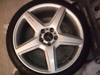 4 X Merecedes 19inch Rims and Tyres 255/35 fronts and 255/40 rears