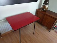 Vintage 1950's 'Atomic' Red Formica Dining Table