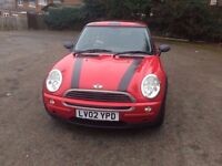 Automatic 2002 Mini Hatch1.6 Petrol Red 70000 miles in excellent Condition