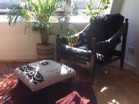 Mid century bohemian lounge / club chair