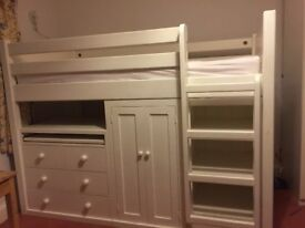 White Cabin Bed for sale (with or without mattress)