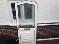 Double glazed front door and frame £75